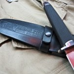 Boot knife sheath large detail