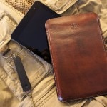 leather tablet sleeve front